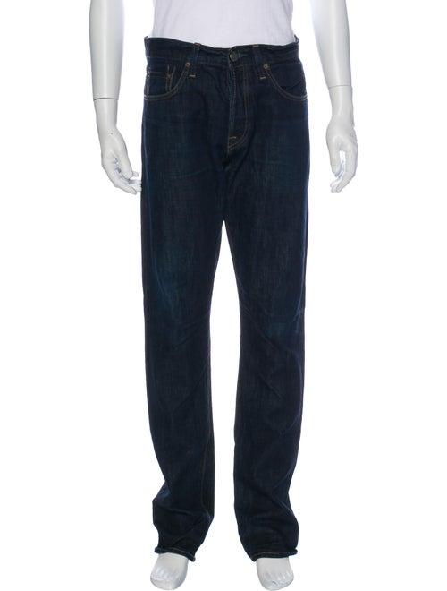 J Brand Selvedge Straight-Leg Jeans Blue