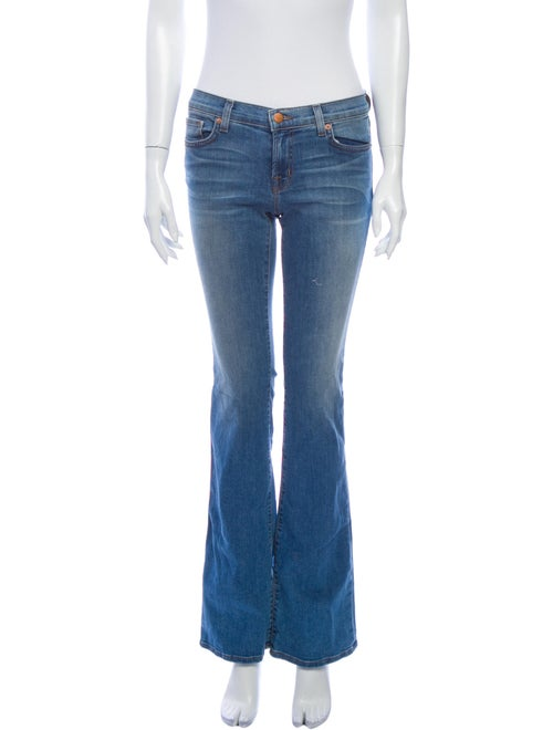 J Brand Low-Rise Straight Leg Jeans Blue