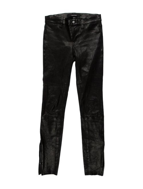 J Brand Lamb Leather Skinny Leg Pants Black - image 1