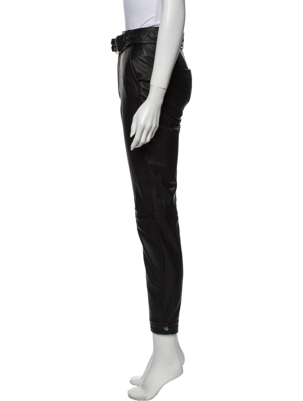 J Brand Lamb Leather Skinny Leg Pants Black - image 2