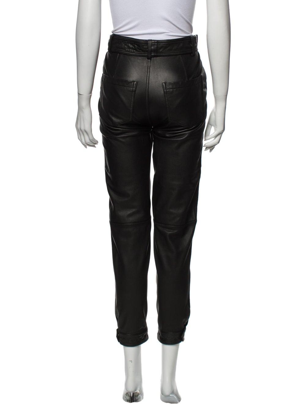J Brand Lamb Leather Skinny Leg Pants Black - image 3