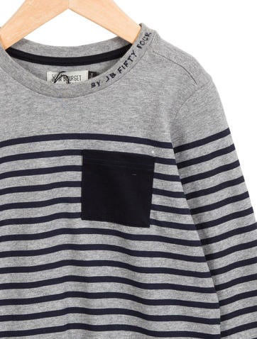 Jean Bourget Boys 39 Striped Long Sleeve Shirt W Tags