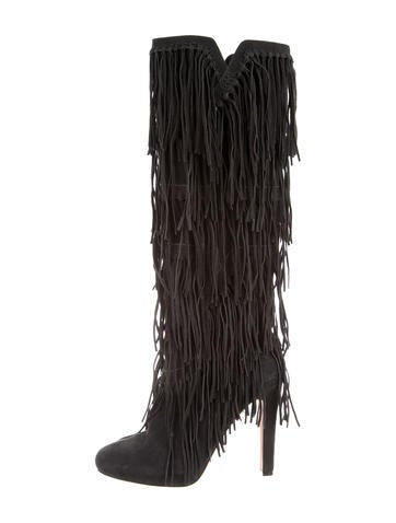 Jean-Michel Cazabat Suede Fringe Boots