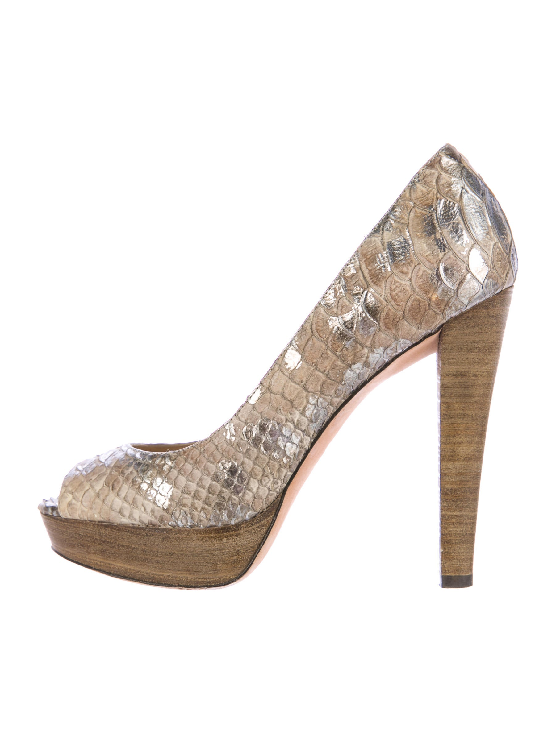 Jean-Michel Cazabat Python Peep-Toe Pumps sale new pay with visa cheap online 4RUnNY