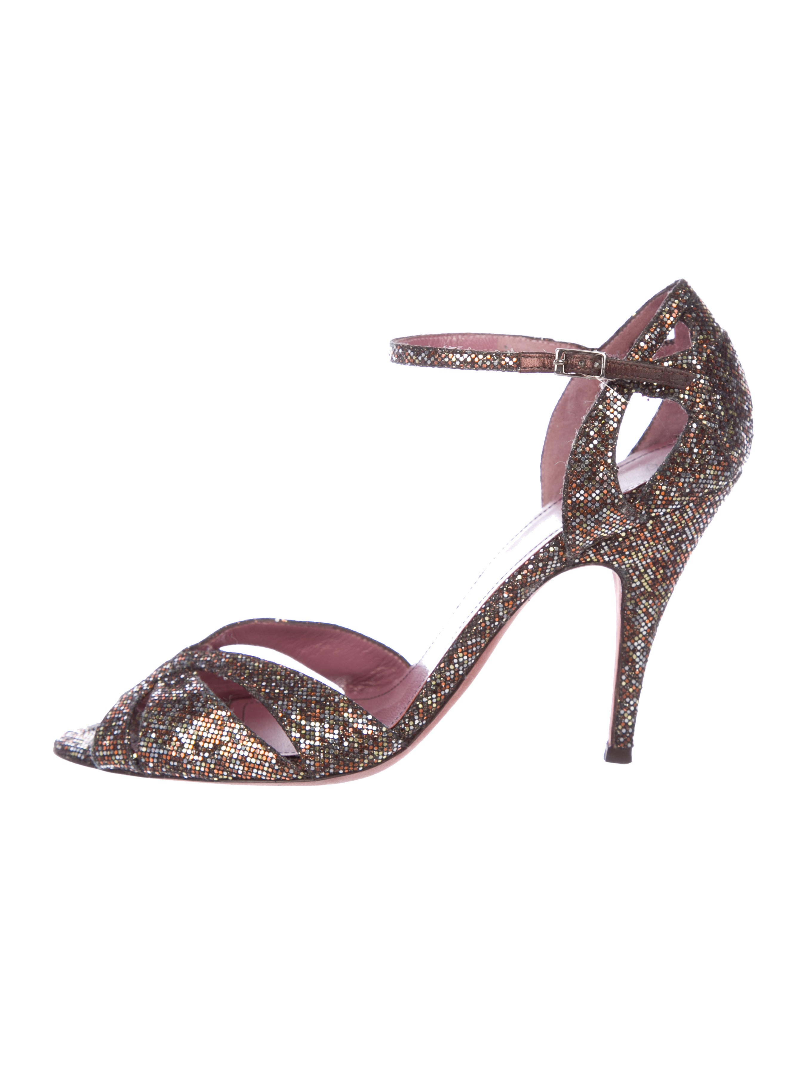 free shipping visit new Jean-Michel Cazabat Glitter Slingback Pumps tumblr for sale great deals cheap price s7tjz