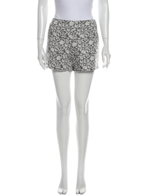 J.Crew Floral Print Mini Shorts Grey