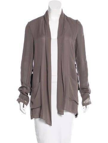 Silk Open-Front Jacket