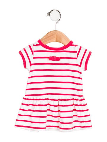 Jacadi Girls' Bow-Accented Striped Dress None