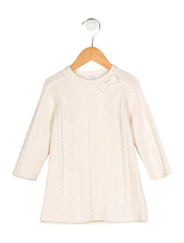 Jacadi Girls' Cable Knit Sweater Dress None