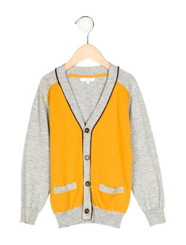 Jacadi Boys' Colorblock Rib Knit Cardigan None