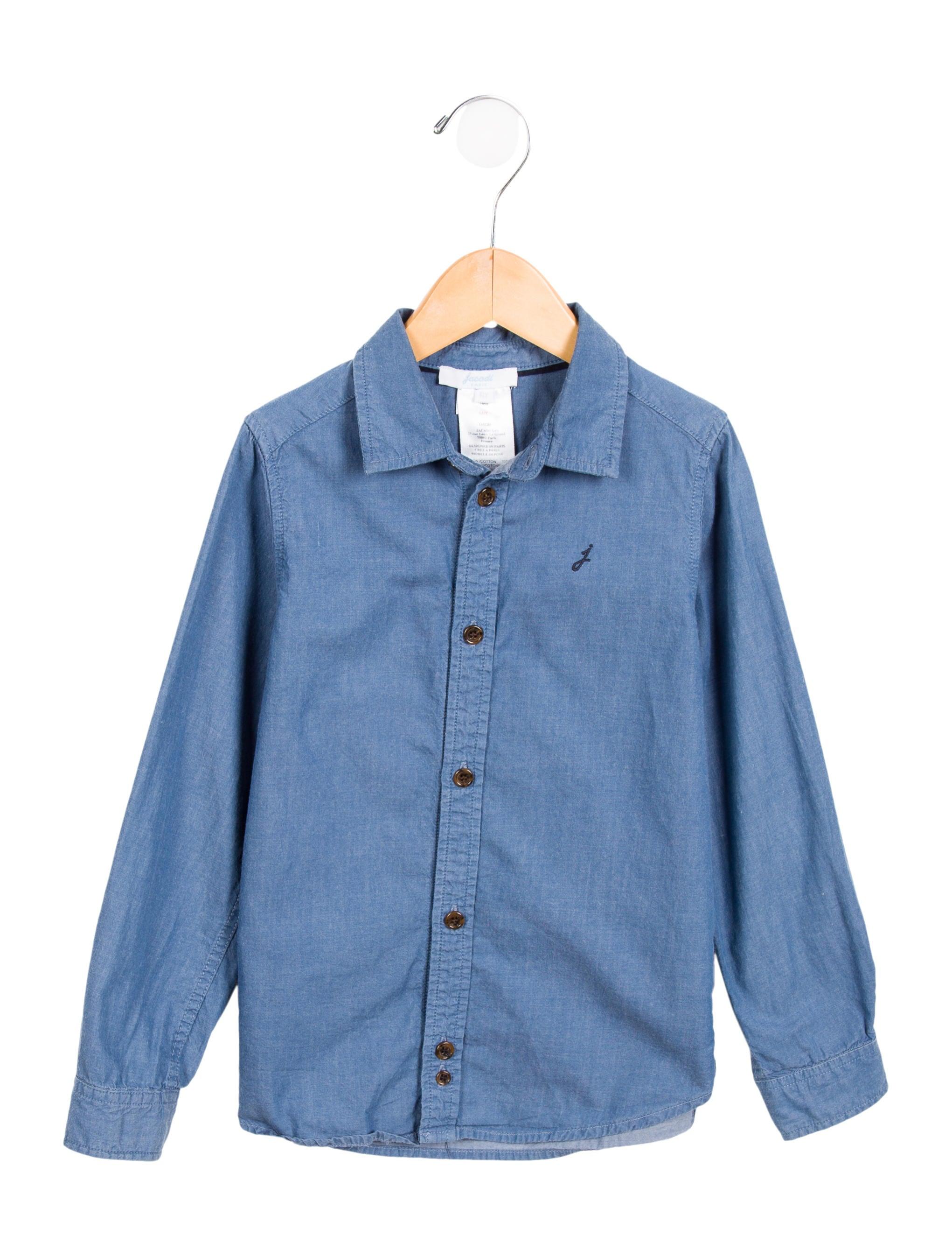 Jacadi boys 39 chambray button up shirt boys wjdci20374 for Chambray shirt for kids