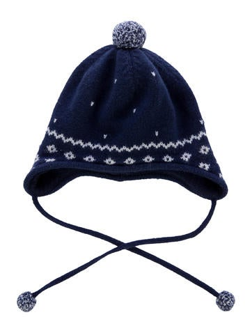 Jacadi Boys' Fair Isle Rib Knit Beanie None