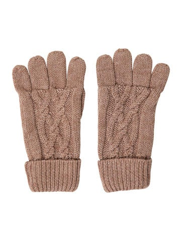 Jacadi Girls' Brown Knit Gloves None