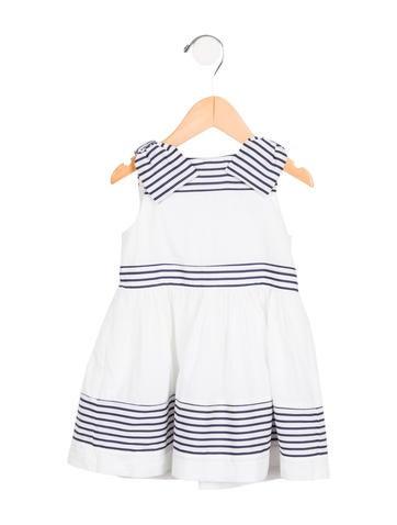 Jacadi Girls' Sleeveless Bow-Accented Dress None
