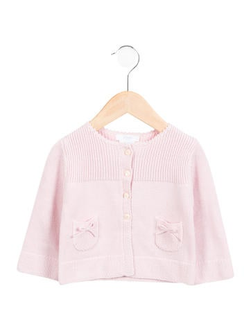 Jacadi Girls' Knit Bow-Accented Cardigan w/ Tags None