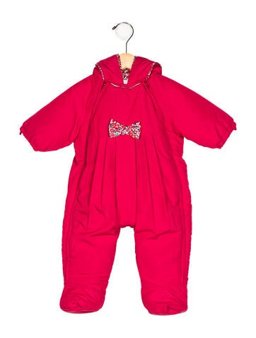 Jacadi Girls' Hooded Bow-Accented Snowsuit None
