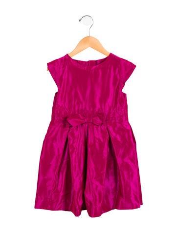 Jacadi Girls' Short Sleeve Bow-Accented Dress None