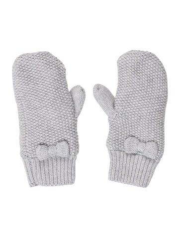 Jacadi Girls' Knit Bow Mittens None