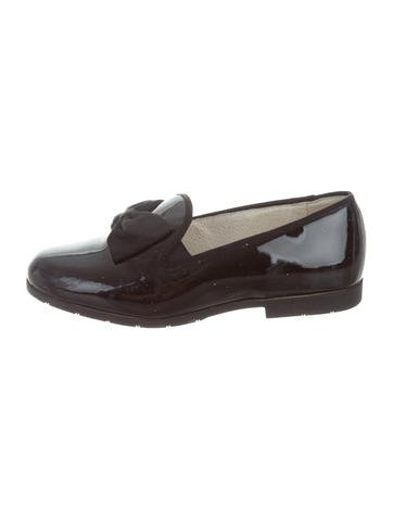 Jacadi Girls' Bow-Accented Patent Leather Loafers None