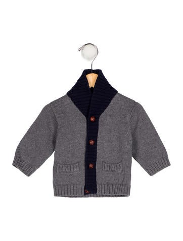 Jacadi Boys' Suede-Accented Knit Sweater None
