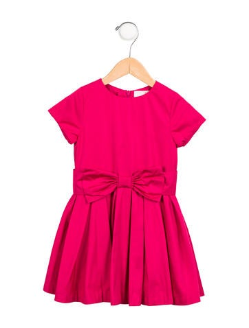 Jacadi Girls' Bow-Accented Dress None