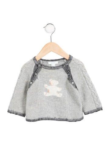 Jacadi Boy' Teddy Bear Intarsia Sweater None