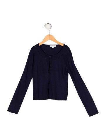 Jacadi Girls' Knit Embellished Cardigan None