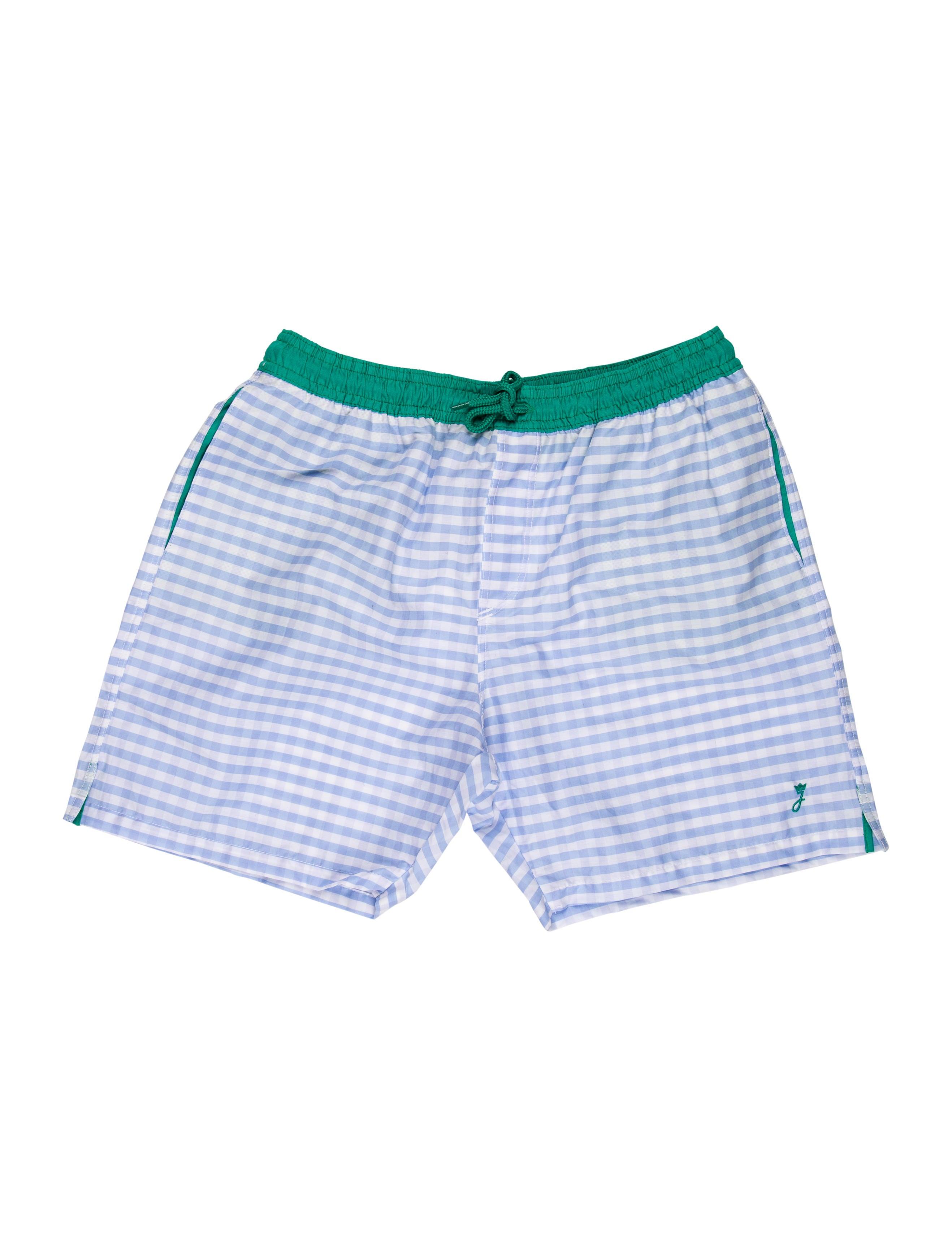 beafe922286ef Jacadi Boys' Checkered Swim Trunks w/ Tags - Boys - WJDCI27881 | The ...