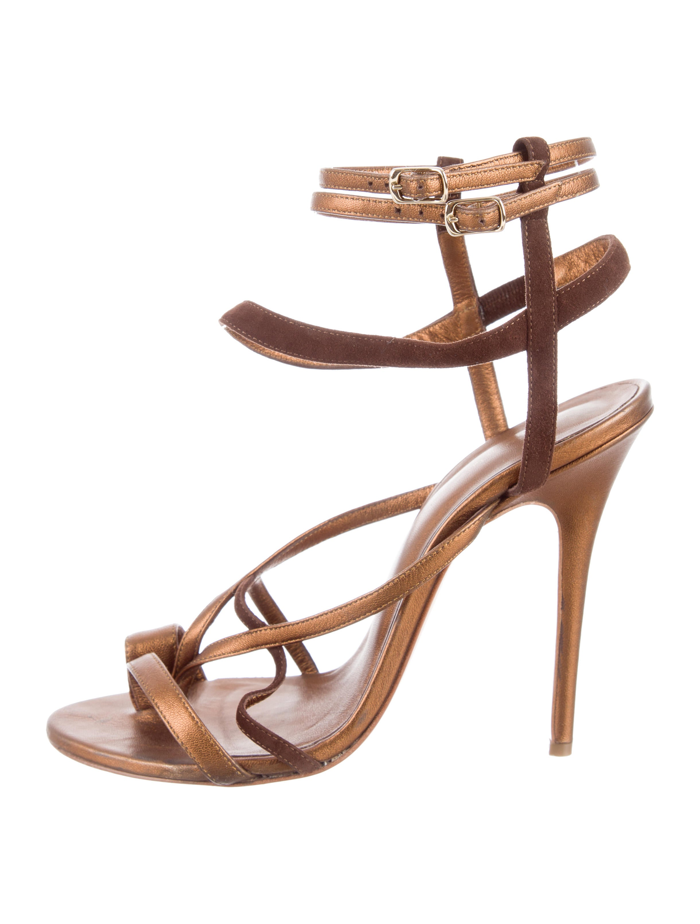 Jean-Michel Cazabat for Sophie Theallet Suede Multistrap Sandals with mastercard sale online djpACJ