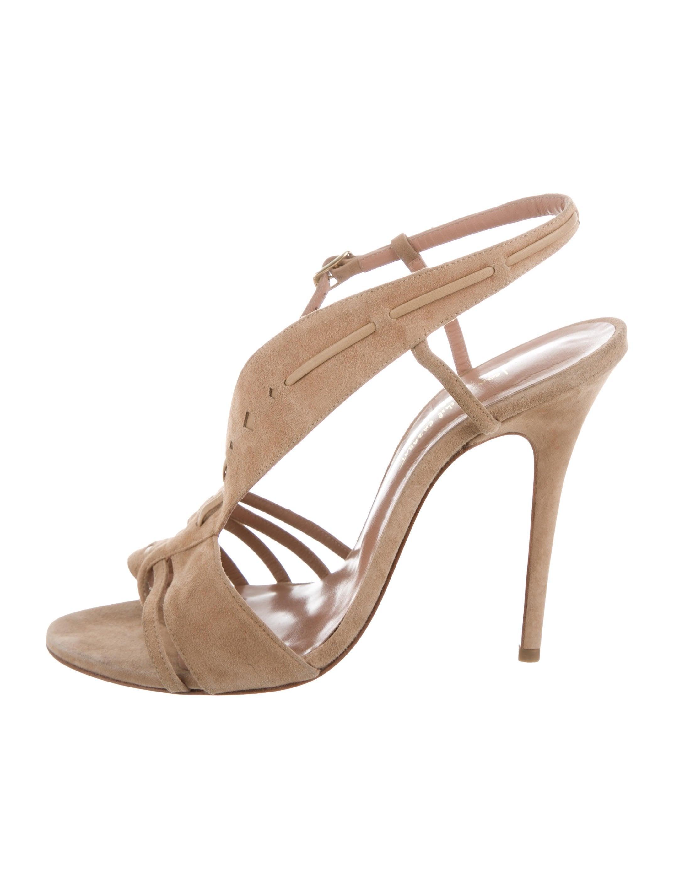 sale under $60 Jean-Michel Cazabat for Sophie Theallet Suede Cage Sandals release dates sale online outlet explore new arrival sale online perfect cheap price eY5Eg