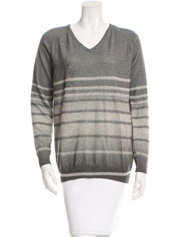 Jehane Cashmere Stripe Sweater w/ Tags None