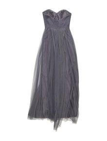 Jenny Yoo Strapless Midi Length Dress