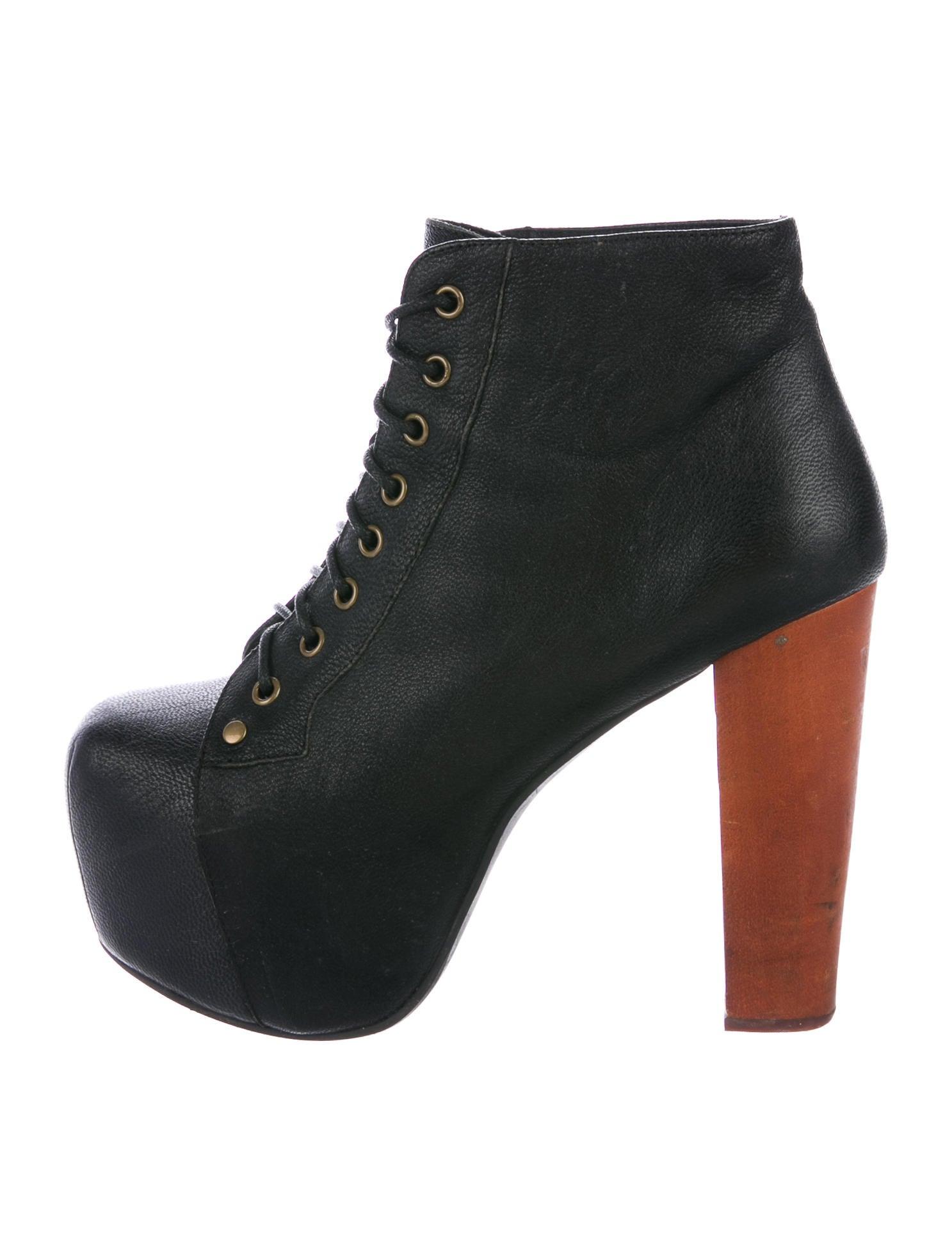 jeffrey campbell lita platform ankle booties shoes wjf20007 the realreal. Black Bedroom Furniture Sets. Home Design Ideas
