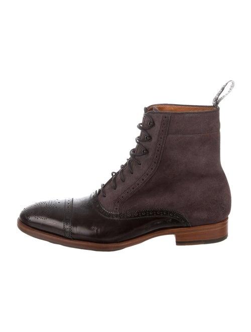 John Fluevog Lace-Up Boots Purple
