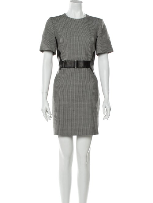 Judith & Charles Houndstooth Print Mini Dress w/ T