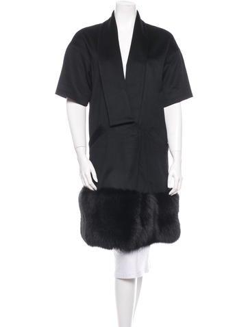 Fox Fur Trimmed Coat