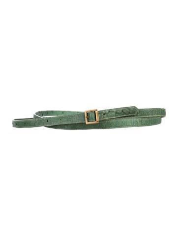 Ostrich Leather Belt