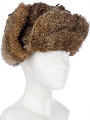 Rabbit Fur Hat w/ Tags