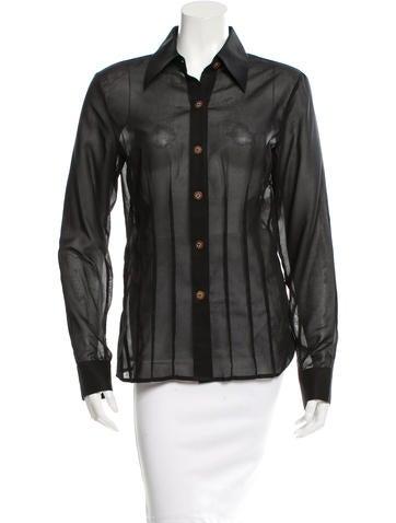 Jenni Kayne Long Sleeve Sheer Button-Up