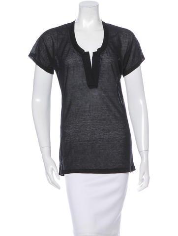 Jenni Kayne Sheer Short Sleeve Top