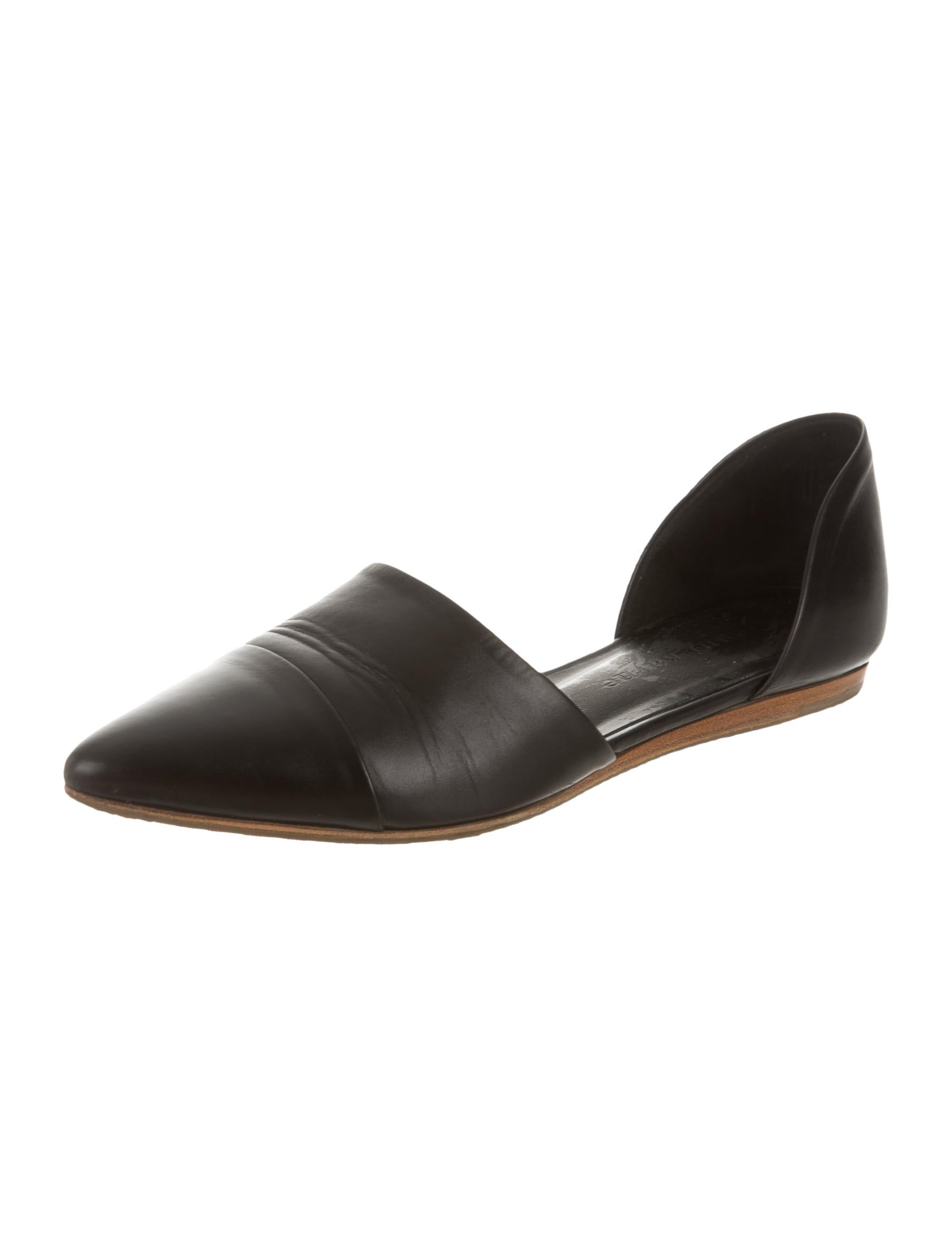 kayne leather pointed toe flats shoes wjk23397