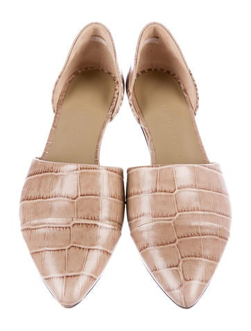 Embossed d'Orsay Flats