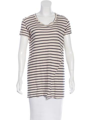 Jenni Kayne Striped Short Sleeve Top None