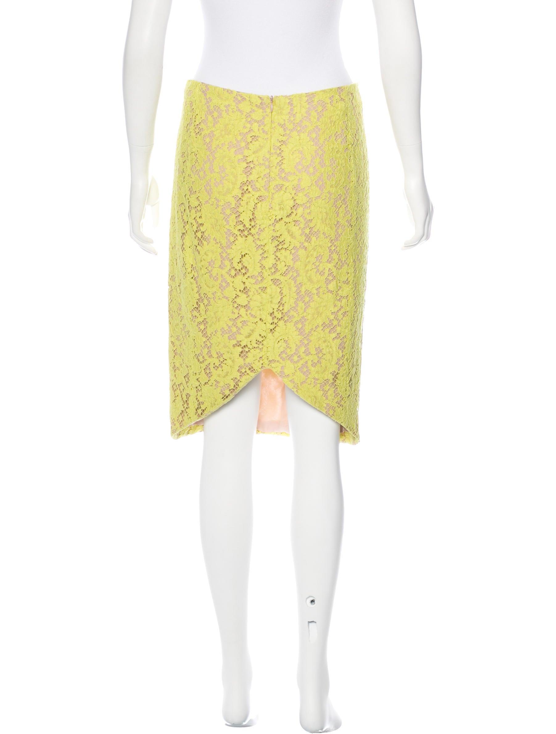 kayne lace knee length skirt clothing wjk24730