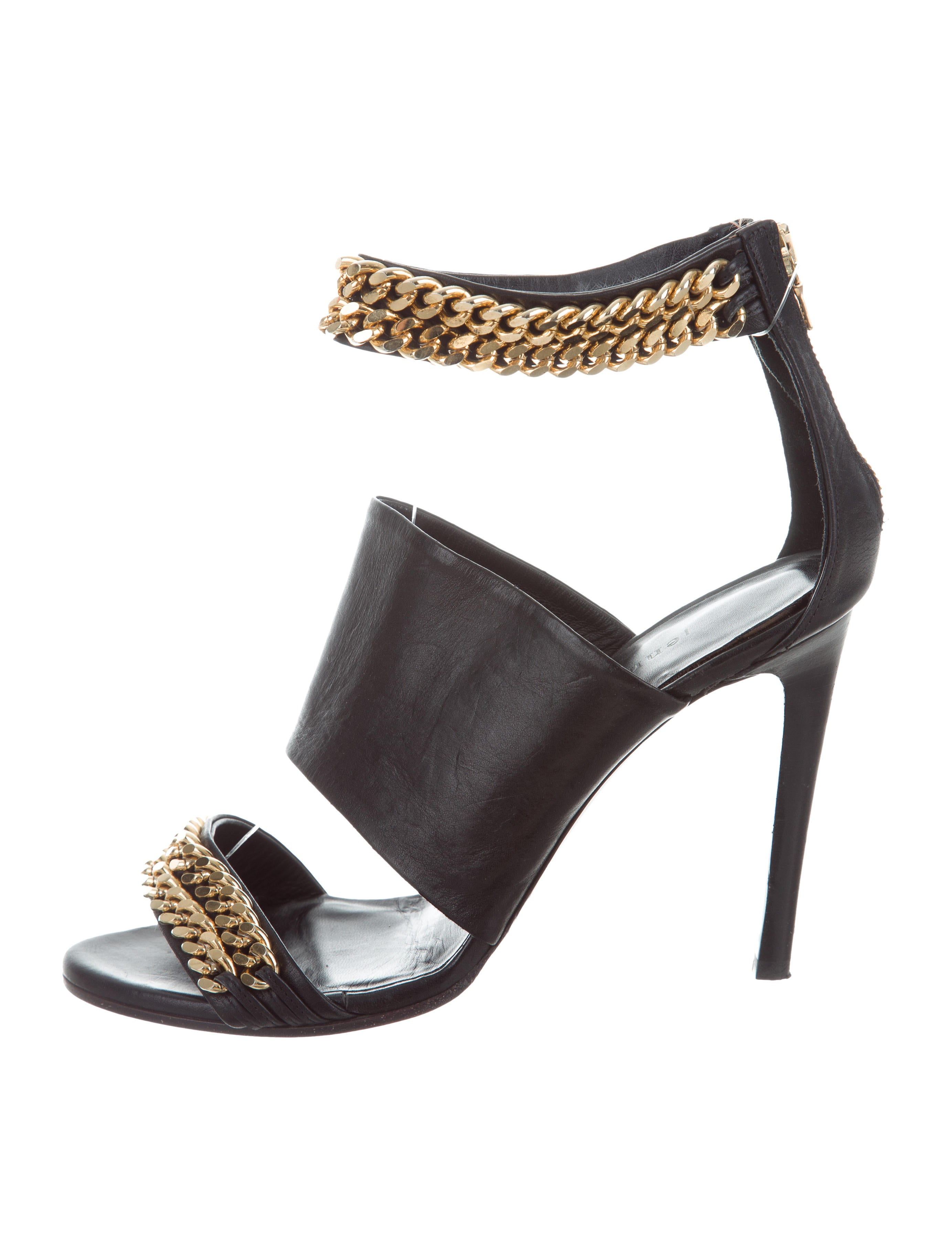 cheap sale store low shipping for sale Jenni Kayne Chain-Link Leather Sandals cheap Manchester best wholesale online 1AcSVVD