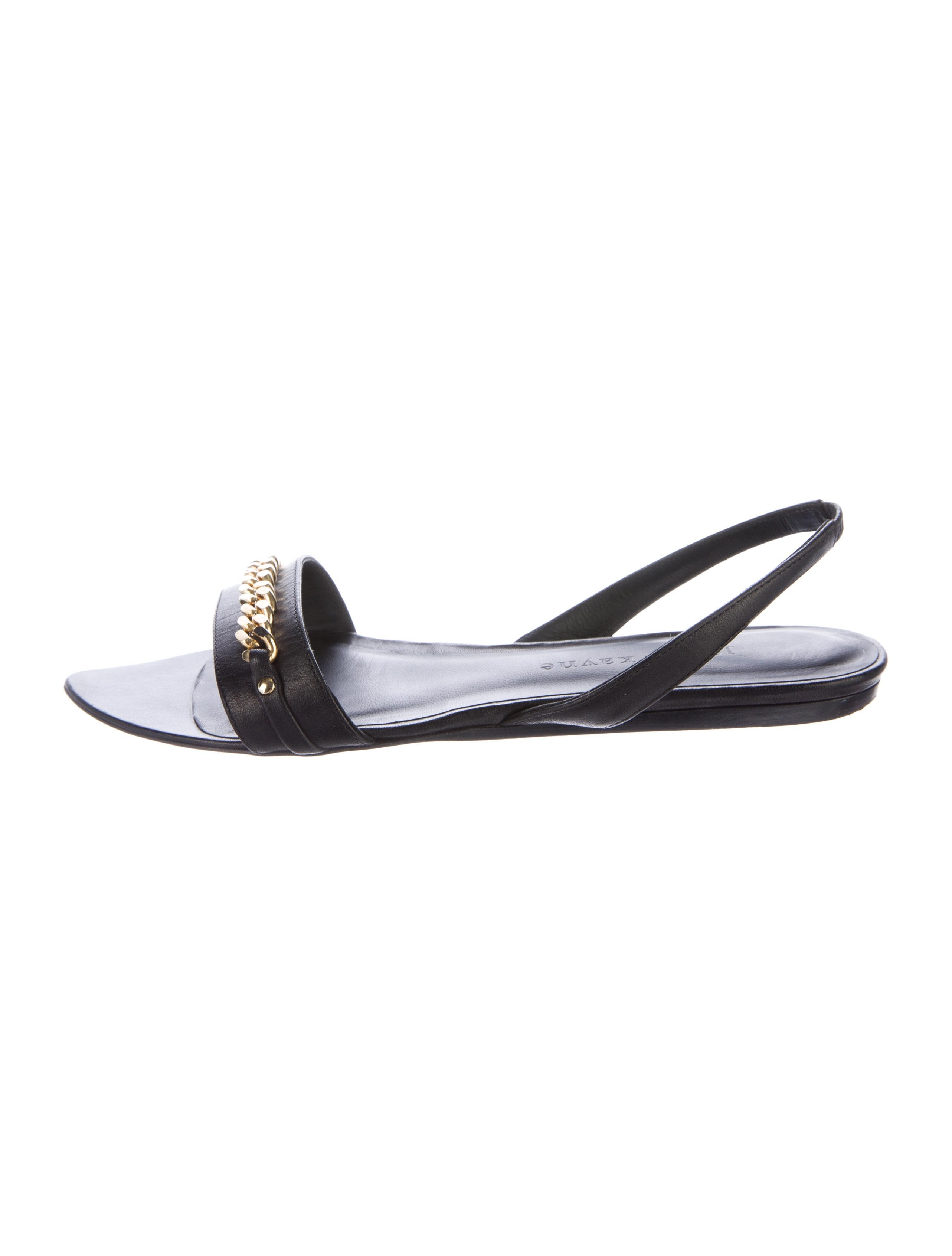 outlet professional sale outlet locations Jenni Kayne Chain-Link Leather Sandals where can you find buy cheap price trY3i3
