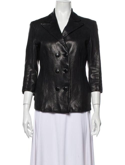 Jenni Kayne Leather Blazer Black