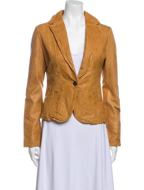 Jakett Leather Blazer Brown
