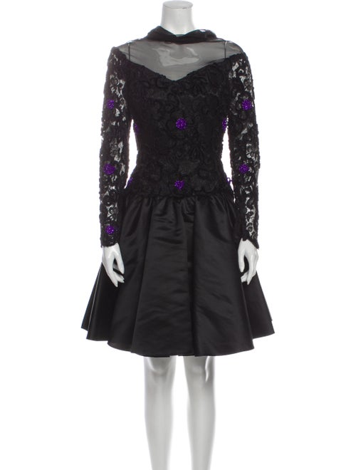 Joanna Mastroianni Lace Pattern Knee-Length Dress