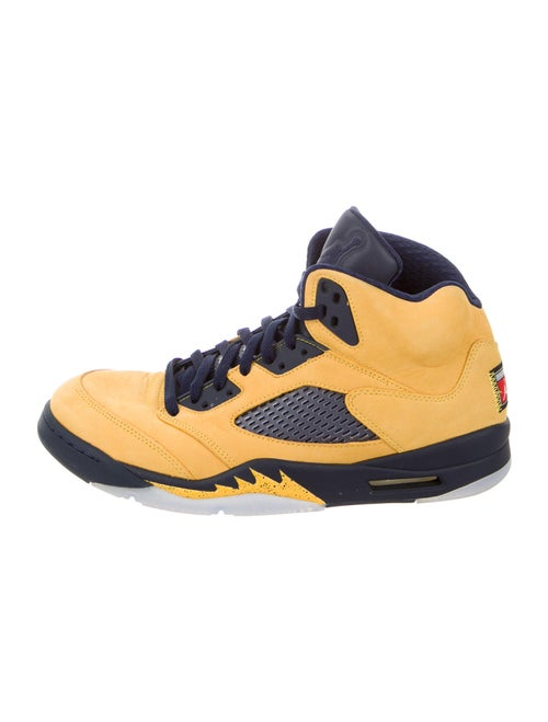 Jordan 5 Retro Michigan Sneakers Yellow